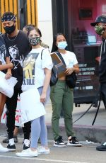 KARRUECHE TRAN at Black Lives Matter Protest in Los Angeles 06/07/2020