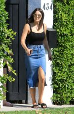 KATHARINE MCPHEE in Long Denim Skirt Out in West Hollywood 06/22/2020