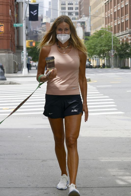 KELLY BENSIMON Out with Her Dog in New York 06/18/2020