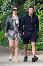 KELLY BROOK and Jeremy Parisi Out and About in London 06/04/2020