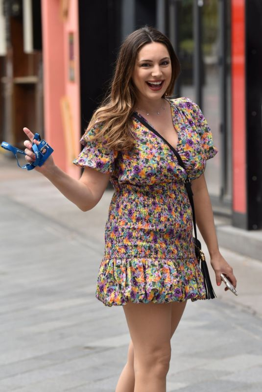 KELLY BROOK Arrives at Global Radio in London 06/19/2020