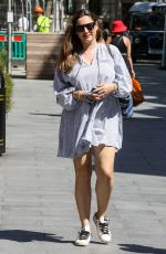 KELLY BROOK Arrives at Global Radio in London 06/24/2020