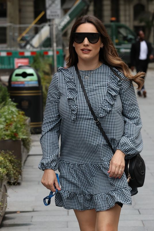 KELLY BROOK Arrives at Heart Radio Studios in London 06/18/2020