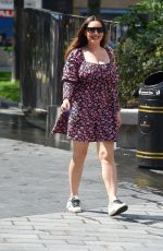 KELLY BROOK in a Sumer Dress Out in London 06/25/2020