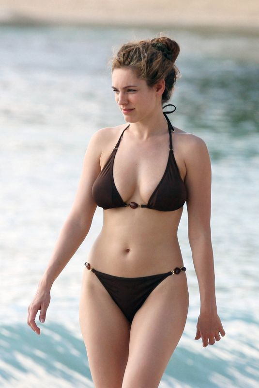 KELLY BROOK in Bikini at a Beach in Caribbean 05/09/2009