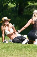 KIMBERLEY GARNER with Friends at Hyde Park in London 06/06/2020