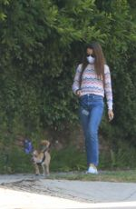 LILY COLLINS Out with Her Dog in Beverly Hills 06/06/2020