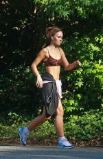 LILY-ROSE DEPP Out Jogging in Los Angeles 06/17/2020
