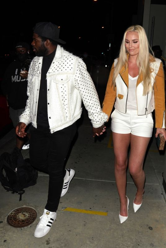 LINDSEY VONN and P. K. Subban Out for Dinner at Catch LA in West Hollywood 06/13/2020