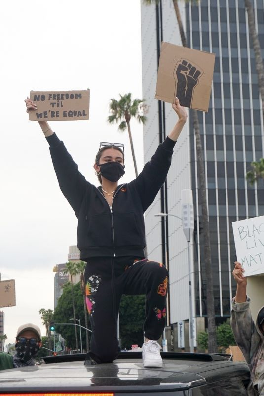 MADISON BEER at a Protest in Los Angeles 06/01/2020