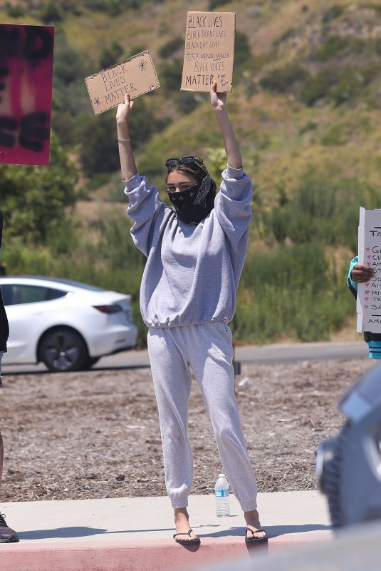 MADISON BEER Out Protesting in Malibu 06/03/2020