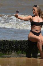 MEGAN CLARK in Bkini at a Beach in Frinton 05/30/2020
