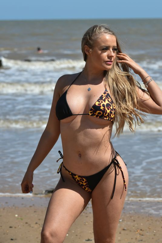 MEGAN CLARKE in Bikini on the Beach in Frinton 06/02/2020