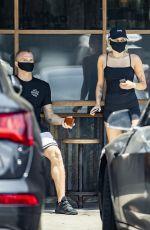 MILEY CYRUS Wearing Bandana Mask Out in Calabasas 06/16/2020