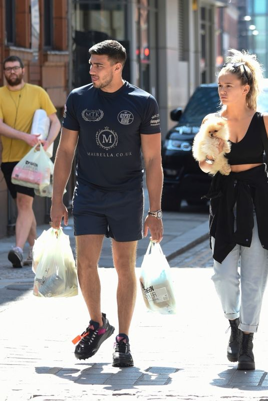 MOLLY MAE HAGUE and Tommy Fury Out with Their Dog Mr Chai in Manchester 06/03/2020