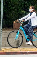 MOLLY SHANNON Riding Bike Out in West Hollywood 06/05/2020