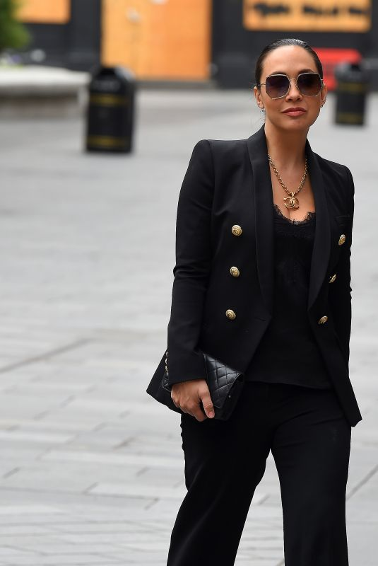 MYLEENE KLASS Arrives at Global Radio in London 06/29/2020