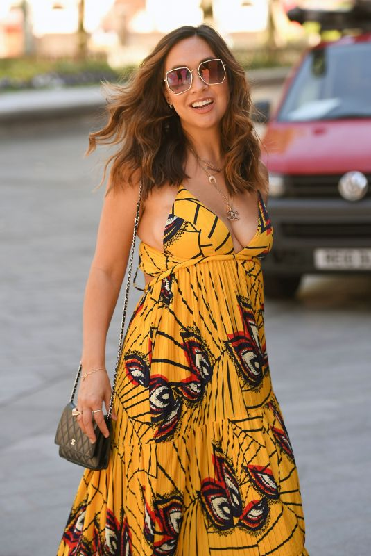 MYLEENE KLASS in a Summer Dress Arrives at Smooth Radio in London 06/25/2020