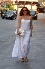 MYLEENE KLASS in a White Dress Arrives at Smooth Radio in London 06/24/2020