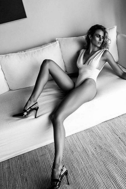 NATALIE ROSER at a Black and White Photoshoot 2020