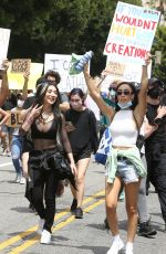 NIKITA DRAGUN at Black Lives Matter Protest in Los Angeles 06/02/2020