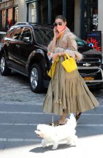 OLIVIA PALERMO Out with Her Dog Mr Butler in New York 06/29/2020