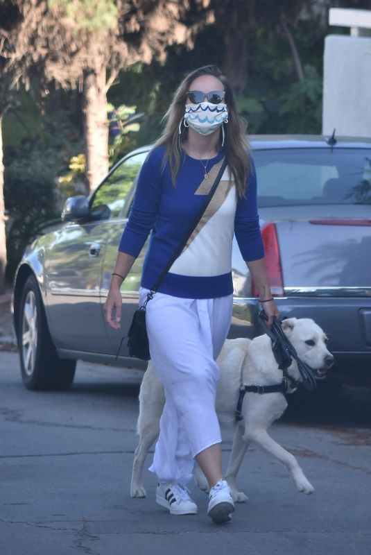 OLIVIA WILDE Out with Her Dog in Los Angeles 06/07/2020