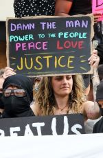 PARIS JACKSON at a Protest in Los Angeles 06/01/2020