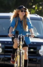 PAULINA RUBIO Riding a Bike Out in Miami 06/15/2020