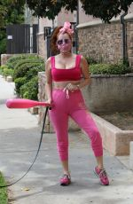 PHOEBE PRICE All in Pink Out in Studio City 06/02/2020