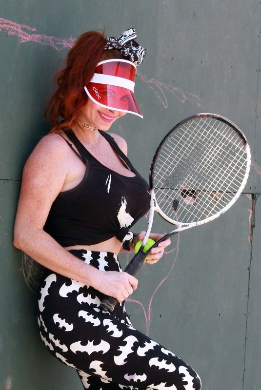 PHOEBE PRICE at a Tennis Courts in Los Angeles 06/27/2020