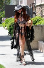 PHOEBE PRICE Out and About in Los Angeles 06/25/2020