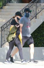 Pregnant KATHERINE SCHWARZENEGGER and Chris Pratt Out in Santa Monica 06/01/2020