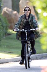 Pregnant KATHERINE SCHWARZENEGGER and MARIA SHRIVER Out Riding Bikes in Los Angeles 06/13/2020