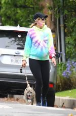 Pregnant KATHERINE SCHWARZENEGGER Out with Her Dog in Los Angeles 06/28/2020