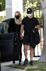 Pregnant SOPHIE TURNER and Joe Jonas Out in Los Angeles 06/20/2020