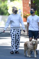 Pregnant SOPHIE TURNER and Joe Jonas Out with Their Dogs in Los Angeles 06/22/2020