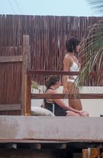 RACHEL COOK in Swimsuit at a Beach in Tulum 06/17/2020