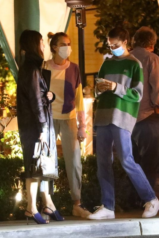 RAINEY and MARGARET QUALLEY and CARA DELEVINGNE at Chateau Marmont in West Hollywood 06/24/2020