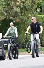 ROBIN WRIGHT Out Riding a Bike in Brentwood 06/02/2020