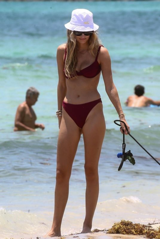 ROOSMARIJN DE KOK in Bikini at a Beach in Miami 06/10/2020
