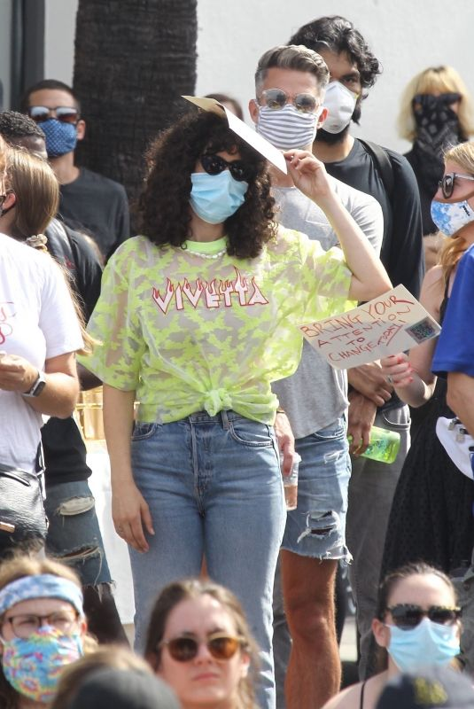 RUMER WILLIS at BLM Rally in West Hollywood 06/19/2020