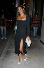 SARA SAMPAIO Leaves Catch LA in West Hollywood 06/13/2020