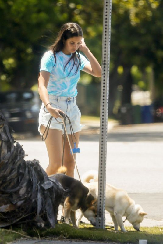 SARA SAMPAIO Out with Her Dogs in Los Angeles 06/04/2020