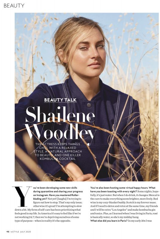 SHAILENE WOODLEY in Instyle Magazine, July 2020