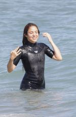 SHAKIRA in Wetsuit at a Beach in Barcelona 06/25/2020