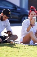 SHARNA BURGESS Relaxing at Bondi Beach 05/29/2020