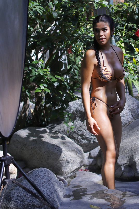 SUELY MEDEIROS in Bikini at a Photoshoot in Los Angeles 06/25/2020