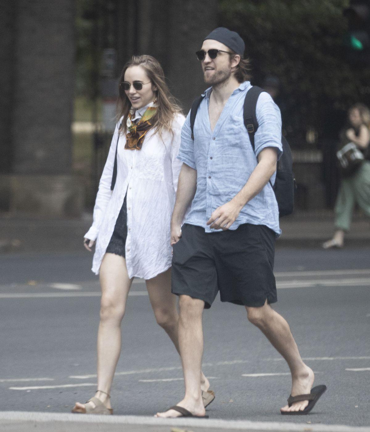 SUKI WATERHOUSE and Robert Pattinson Out in London 06/18 ...