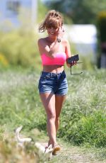 SUMMER MONTEYS-FULLAM Out with Her Dog in Green Fields in London 05/29/2020
